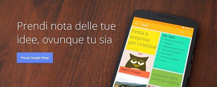 Come creare post-it su desktop e mobile con Google Keep