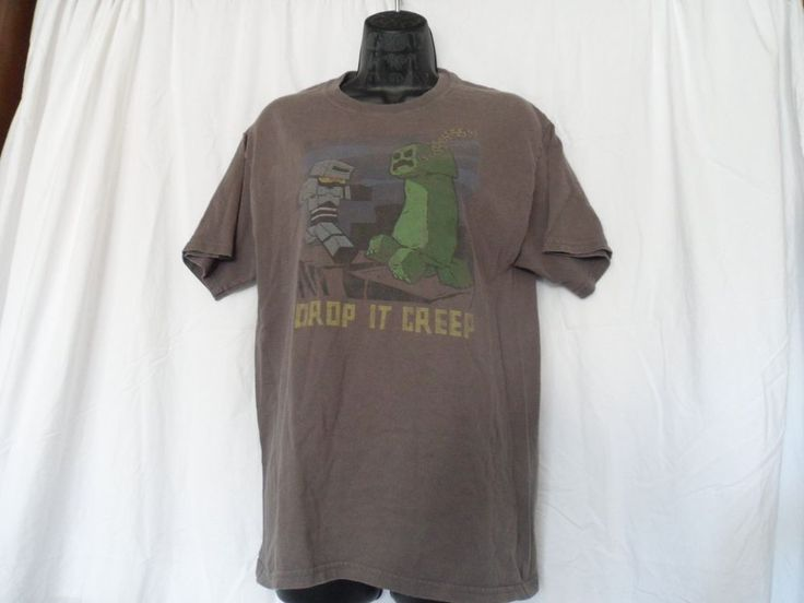 Minecraft - Drop It Creep T-Shirt - Adult size M - Creeper Funny Video Game Tee #Jinx #GraphicTee