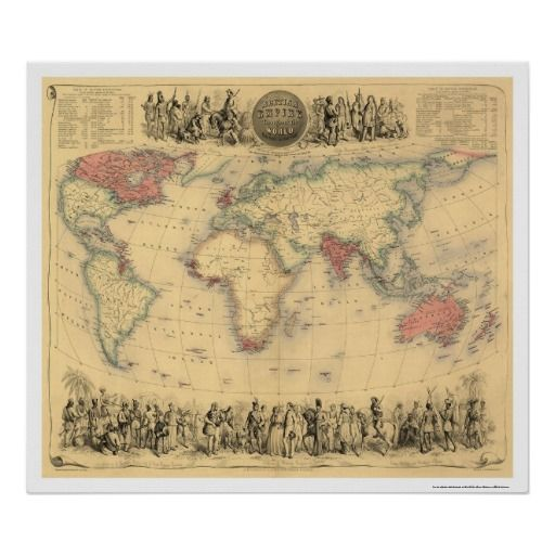 14 best steampunk old maps images on pinterest antique maps old british empire throughout the world 1855 poster old world mapsvintage gumiabroncs Choice Image