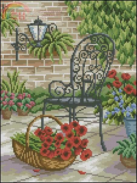 chair n basket flower 2/2