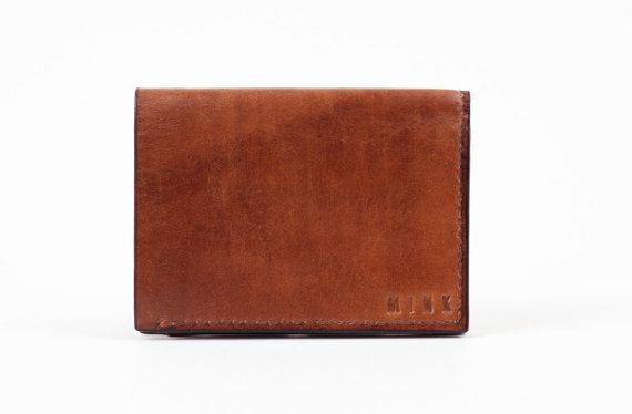 Mens Leather Wallet Mens Leather Wallet Bi-Fold by MinkLeather