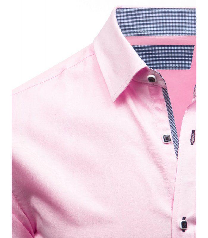 Elegantná ružová košela s dlhými rukávmi