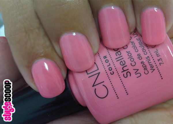 CND Shellac in Gotcha. Perfect pink for Spring.
