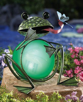 Solar Lighted Decorative Garden Frog