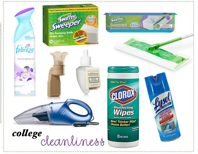Cleaning routine for college dorm or apartment. I'll be glad I pinned this!!!!