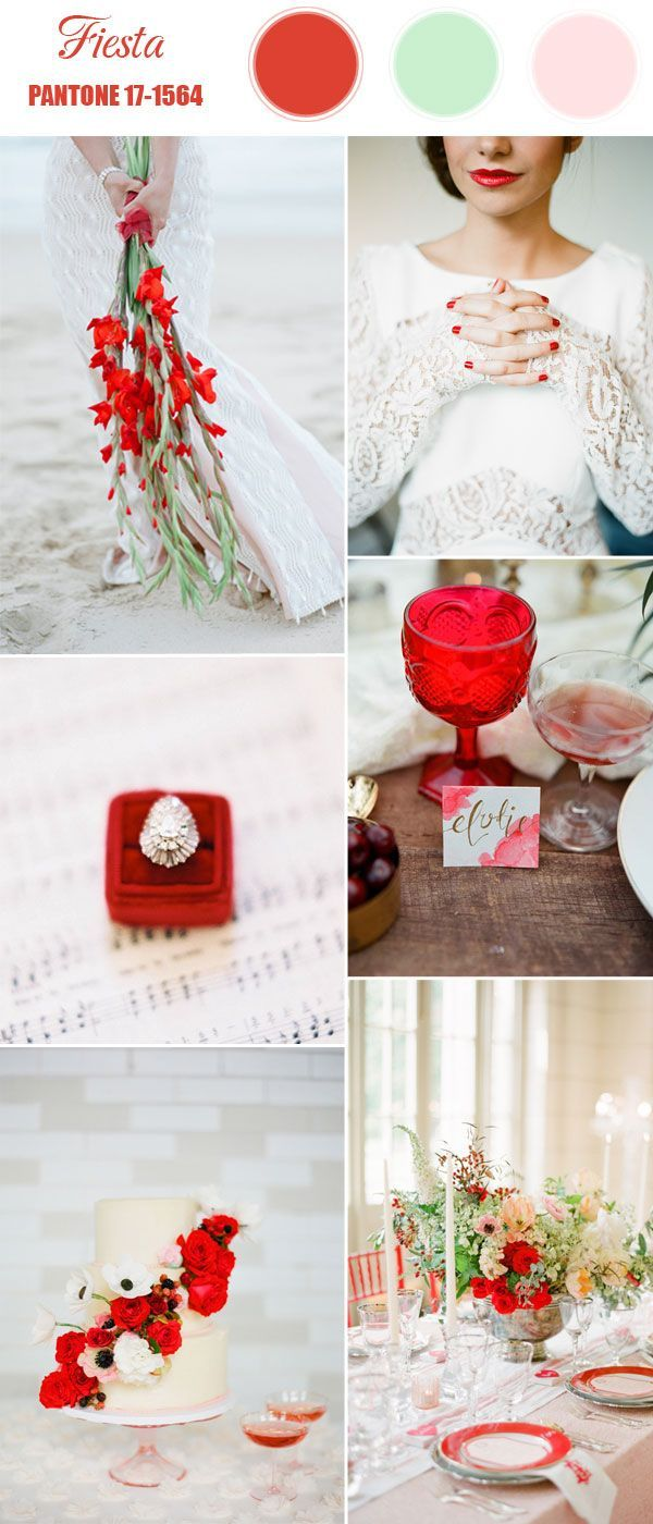 pantone fiesta bright red spring wedding color 2016
