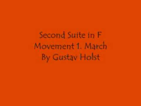 Second Suite in F: March (first movement) - by Gustav Holst