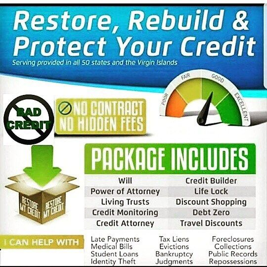 WHY YOU CAN COUNT ON US: ✅ESTABLISHED IN 2004 ✅A+ RATING WITH THE BBB ✅NO CONTRACT REQUIRED ✅TENS OF THOUSANDS OF SATISFIED CLIENTS ✅ WE ATTACK ALL THREE CREDIT BUREAUS ✅ EXPERT CLIENT SUPPORT ✅SUPERIOR CUSTOMER SERVICE ✅FASTEST & BEST RESULTS IN THE INDUSTRY ✅24/7 ONLINE SECURE ACCESS ✔️ One Time Low Activation Fee ✔️ Low Monthly Payments (less than 3.00 a day) By Becoming a Protection Plan member you will be able to Repair your Credit, protect your Identity from Identity theft (fastest…