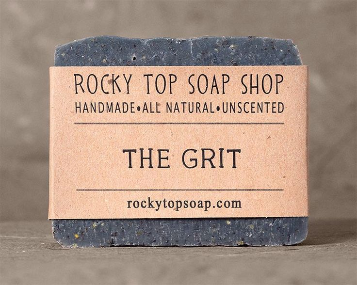 The Grit - Scrub Soap, Exfoliating Soap Bar, Hand Soap, Cold Process Soap, Vegan Soap, Mens Soap, Unscented Soap by RockyTopSoapShop on Etsy https://www.etsy.com/listing/61210084/the-grit-scrub-soap-exfoliating-soap-bar