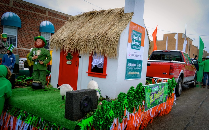 Michigan Irish Music Festival Float ~ Muskegon St. Patrick's Day Parade 2013
