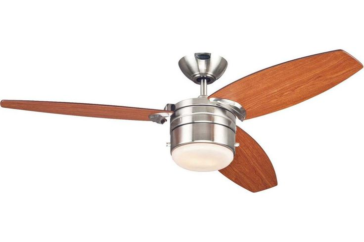 """Westinghouse 7247400 48"""" Lavada in Brushed Nickel with Reversible Applewood and Dark Cherry Plywood Blades"""