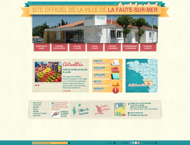#Webdesign : refonte graphique du site de la ville de La Faute sur Mer (85) #Vendee http://www.lafautesurmer.fr