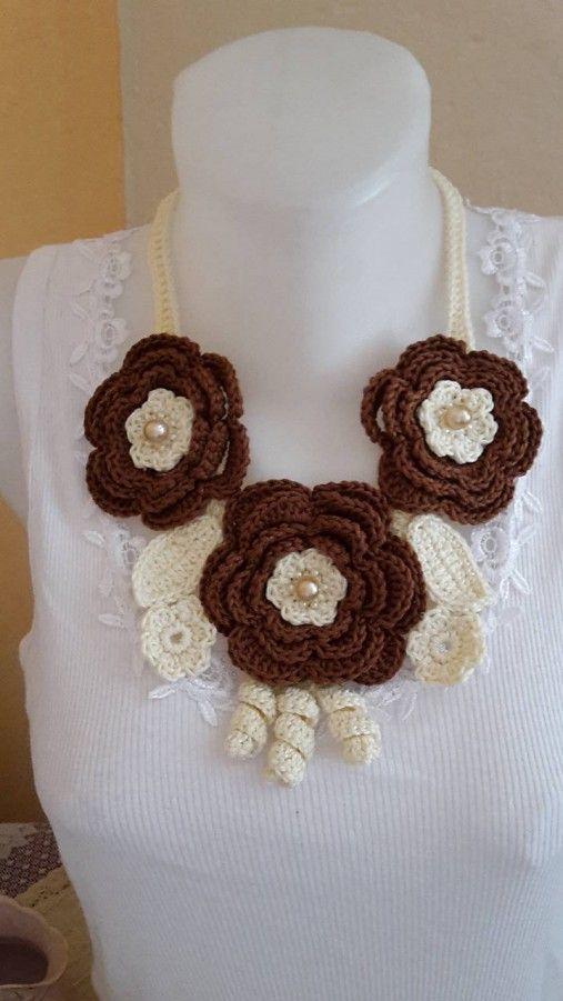 ElinorHandmade / Veľké hnedé kvety