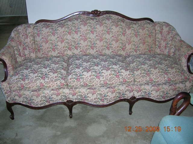 Antiques): Louis 15th Style Sofa, Duncan