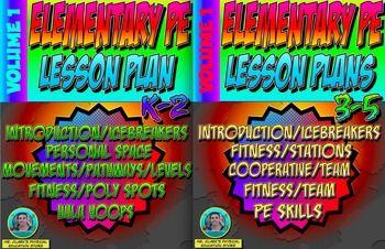 K-5 Physical Education Lesson Plans Volume 1 Bundle