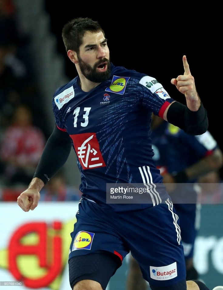 Nikola Karabatic of France reacts during the Men's Handball European Championship main round match between Sweden and France at Arena Zagreb on January 20, 2018 in Zagreb, Croatia.