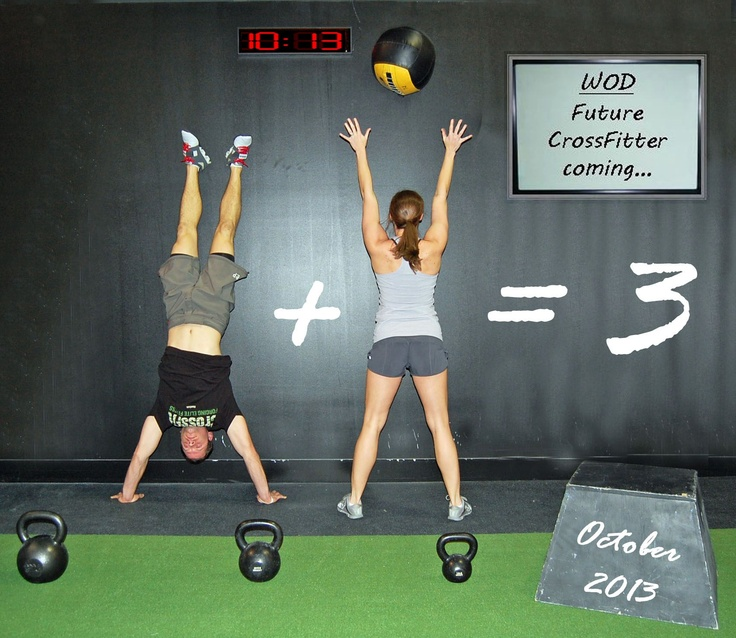 CrossFit Baby Announcement hahah cute for if I ever decide to have kids, AFTER I win the crossfit games :]