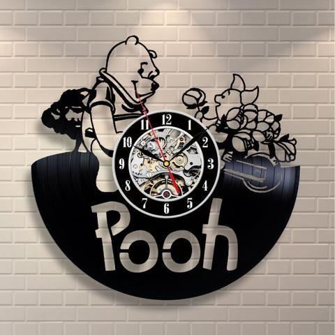 Winnie The Pooh Wall Clock Angel Winnie L Ourson