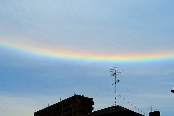 Circumzenithal arc(An inverted form of the rainbow)