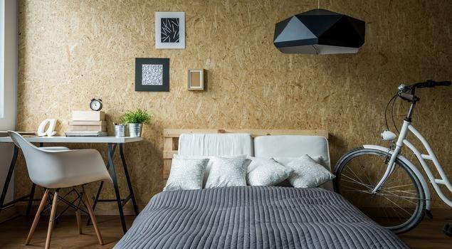 Skandynawska sypialnia dla młodej osoby w ekostylu #aranżacja #sypialnia