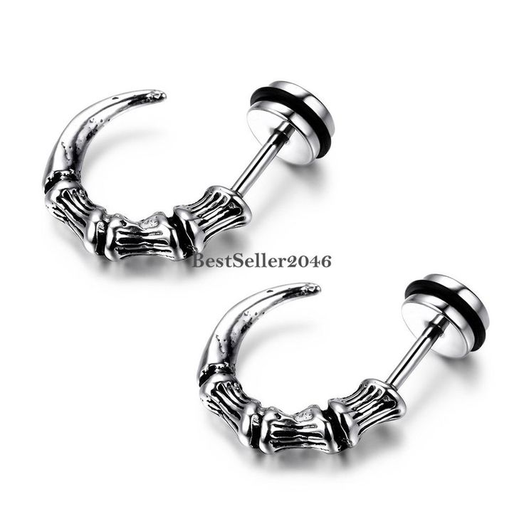 The New Trend Of Mens Men And Women Hanging Cross Earring Studs Ear