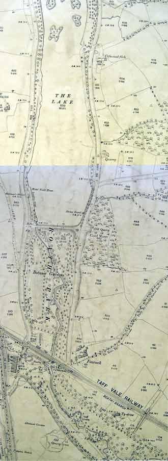 An ordnance survey plan  showing  Roath Park.
