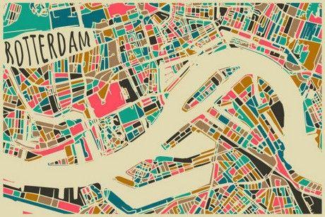 Rotterdam Map Art