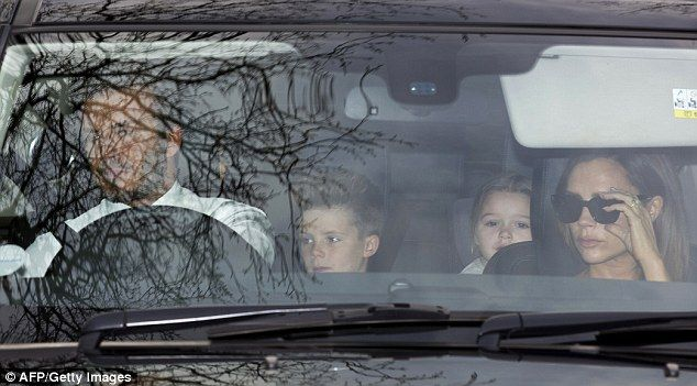 The whole family's invited! David and Victoria Beckham were accompanied by their three youngest children for Elton John's wedding to David Furnish on Sunday