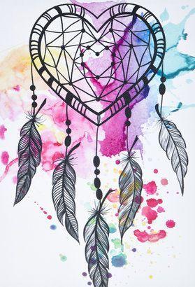 Forever 21 Paint-Splattered Dreamcatcher Canvas