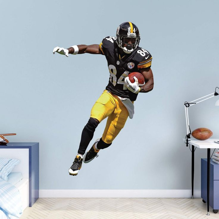 Fathead NFL Pittsburgh Steelers Antonio Brown Home Wall Decal - 12-21497