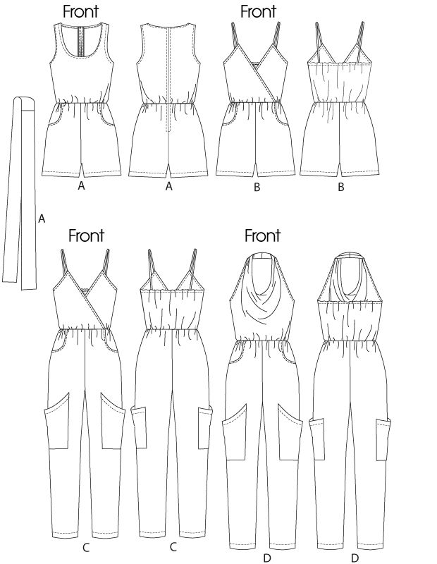 Free Printable Sewing Patterns | ... ' Jumpsuits In 2 Lengths and Sash | Pants/Shorts | McCall's Patterns