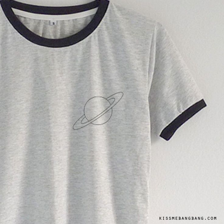 Saturn pocket_Ringer Tee_Grey_Zoom