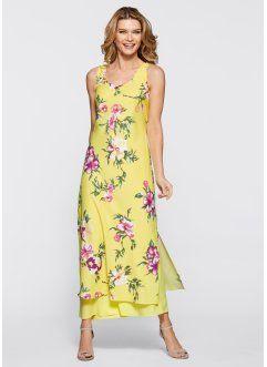 Платье, bpc selection, нежно-лимонный в цветочек