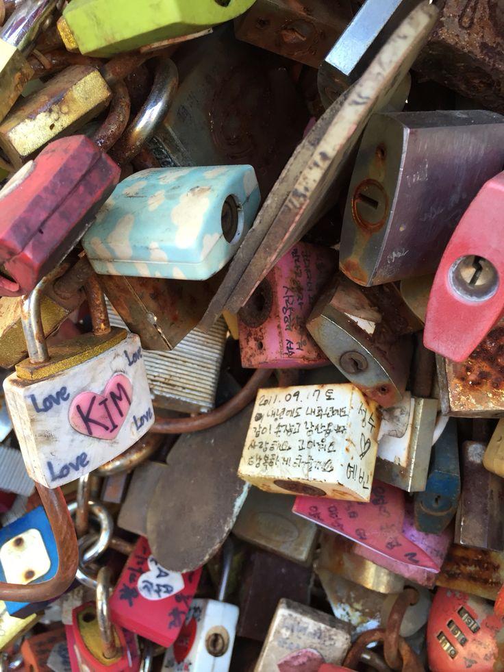 Key locks at Namsan Tower. A very romantic place