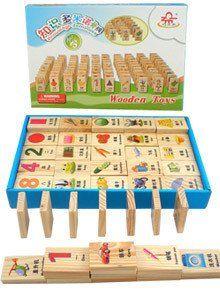 Кэндис го уровня компетентности деревянный блок деревянная игрушка Китайские иероглифы Domino грамотности обучающие Цифровой распознавания формы