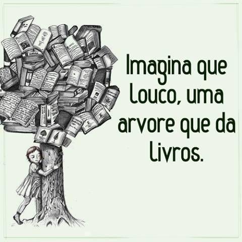 imagina que louco: uma árvore que dá  livros