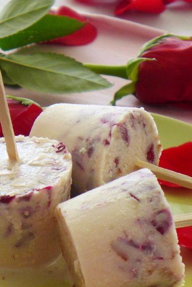 Rose petals, Almonds and Ice pops on Pinterest