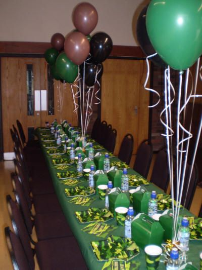 Best 25 army party decorations ideas on pinterest for Army party decoration ideas