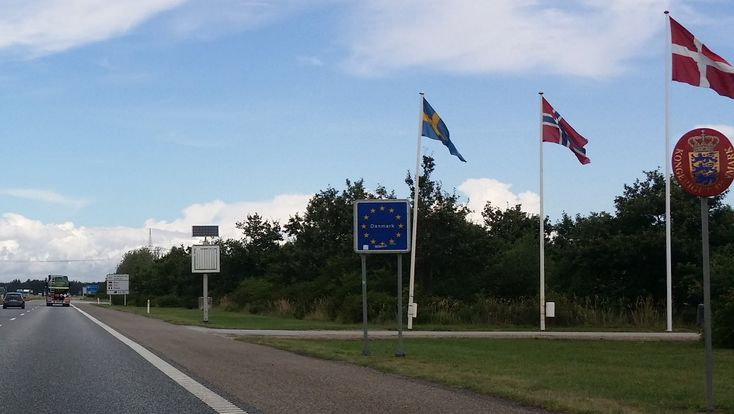 'Grenze von Deutschland nach Dänemark ' aus dem Reiseblog 'Hotel Kommandoergaarden: Zum Reiten auf der Insel Rømø'