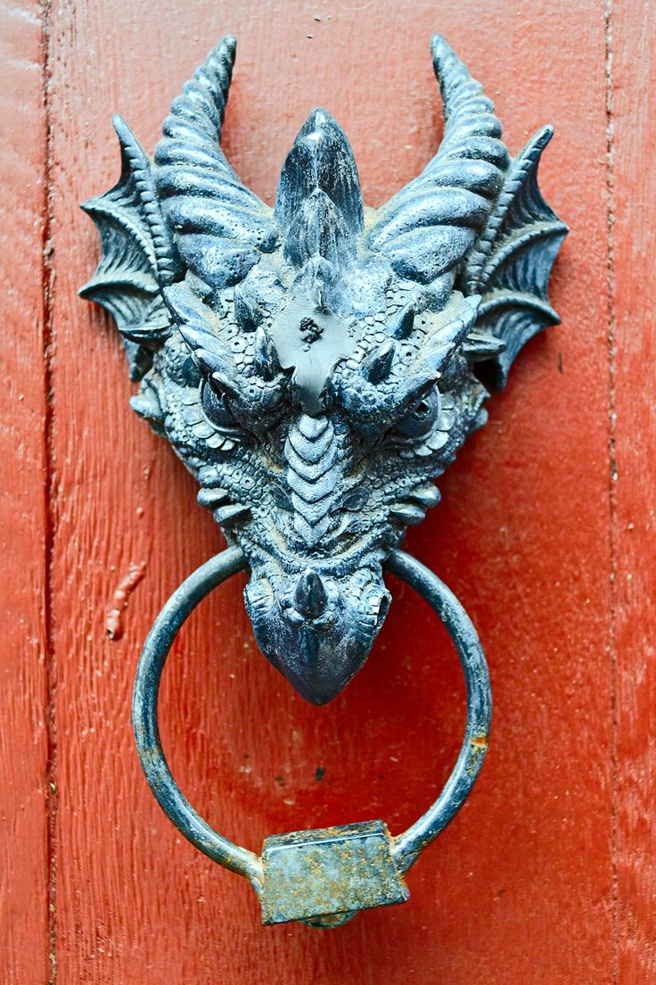 818 best images about locks knobs keys on pinterest - Dragon door knocker ...
