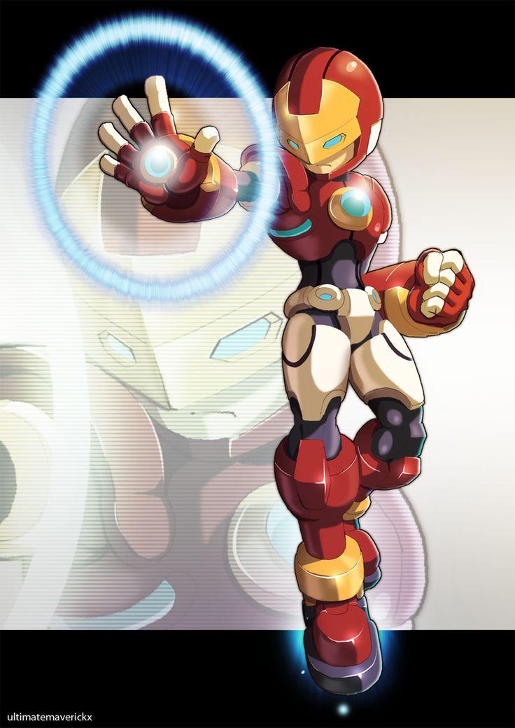 Megaman Model I (Iron Man) by ultimatemaverickx.deviantart.com on @DeviantArt