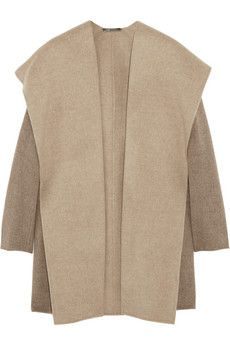For cold foggy days . . .: Felt Woolblend, Coats Vince, Beige, Felt Wool Coats, Hoods Jackets, Planes, Hoods Felt, Felted Wool Coats, Woolblend Coats