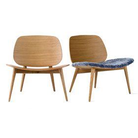 Skandiform PapaChair showcasing  at 100%Design London  'Easy chair in #Oak or Ash'  #100design #BetterAtWork