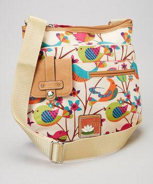 Look what I found on #zulily! Lily Bloom Tweety Twig Camilla Crossbody Bag by Lily Bloom #zulilyfinds