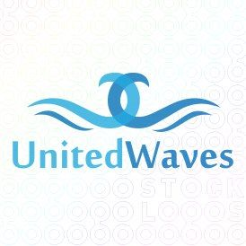 Exclusive Customizable Water Waves Logo For Sale: United Waves | StockLogos.com