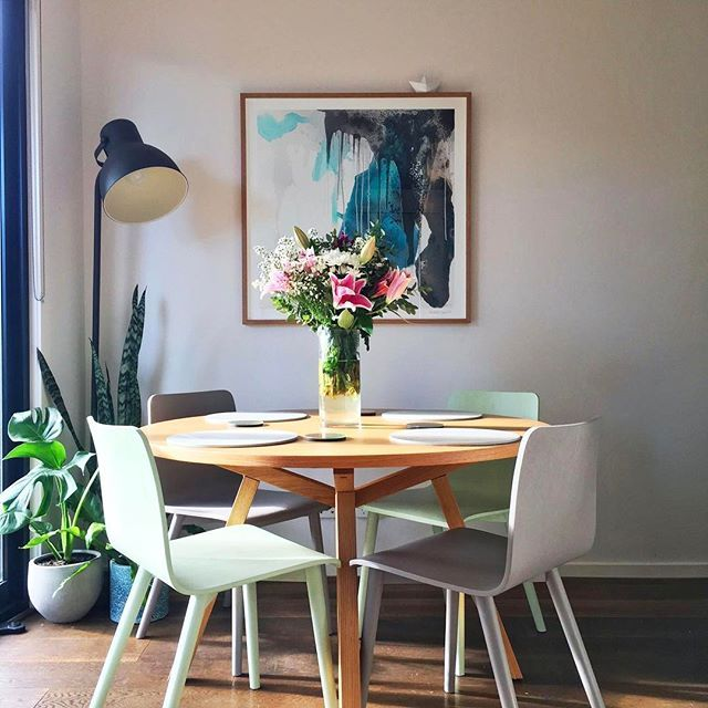 Dining Space Is Forte Round Timber Table
