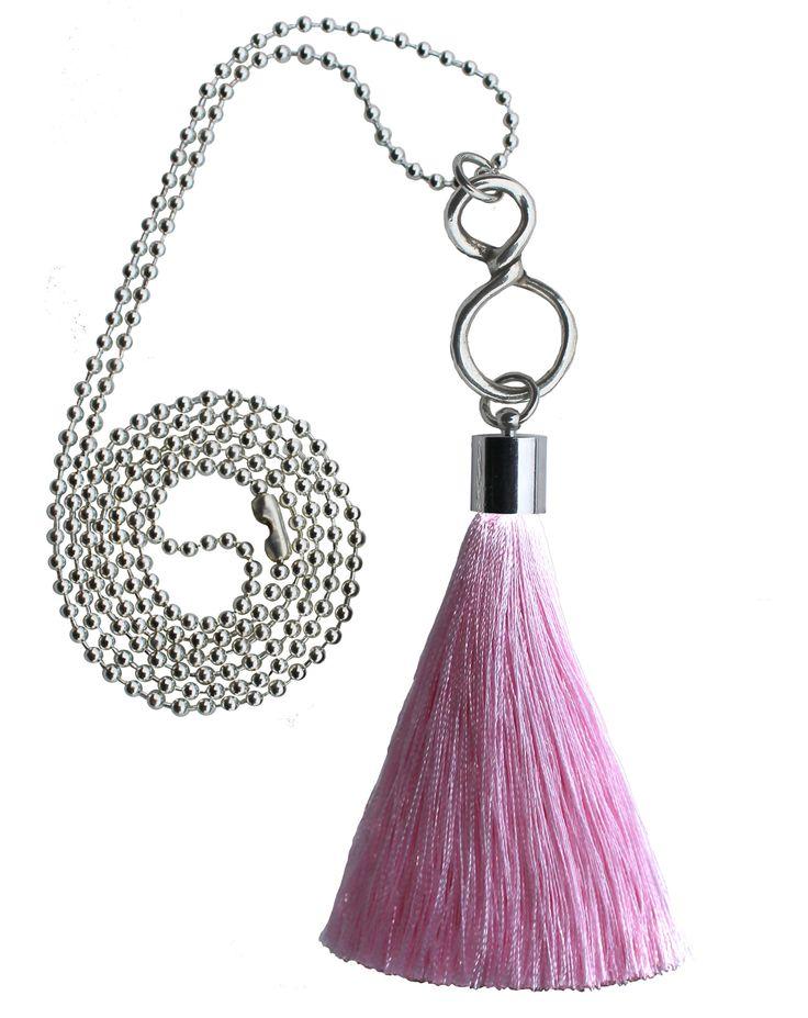 1001-Light Pink Infinity Charm Tassel