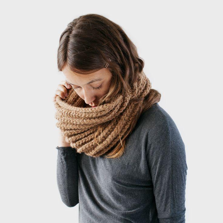 NEVE is a new Peruvian alpaca cowl hand knit from zed handmade