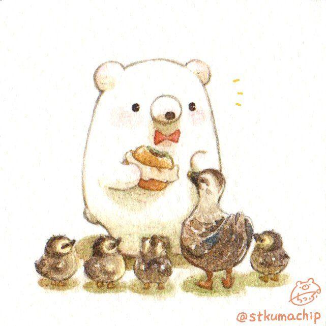 ちっぷ Cute Art Cute Kawaii Animals Cute Cartoon Wallpapers