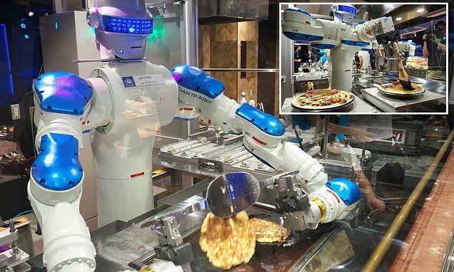 Japanese amusement park unveils robot chef in its 'robot kingdom'